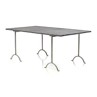 "Pic-nic 71"" Rectangular Faux Cement Top Table"