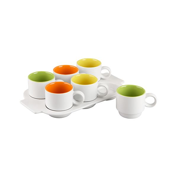 Pick Me Up Stacking Mugs with Tray
