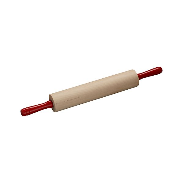 Rolling Pin with Red Handle