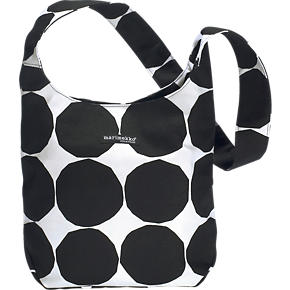 Marimekko Pienet Kivet Kvartsi Black and White Bag