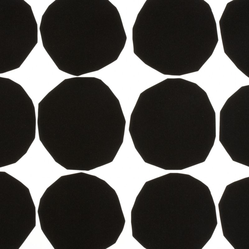 "Designed in 1956, Kivet (""stones"") marked the beginning of the close relationship between the legendary designer Maija Isola and Marimekko. A simple yet modern black and white pattern, originally created by cutting paper circles with scissors, Kivet has been recreated on heavy-duty gift wrap. Pienet (""small"") Kivet is a condensed version of the original, with smaller and more frequent circles. Its simplicity makes the pattern an iconic and fundamental Marimekko print, representative both of the company's philosophy and graphic legacy.<br /><br /><NEWTAG/><ul><li>Pattern designed by Maija Isola; 1956/2000</li><li>Heavy-duty paper</li></ul><br />"