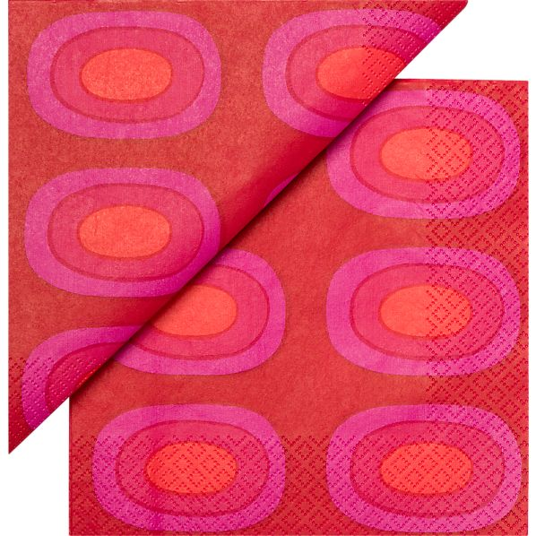 "Set of 20 Marimekko Pieni Melooni Paper 6.5"" Napkins"
