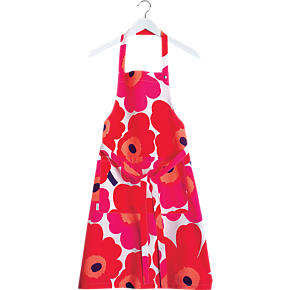 Marimekko Pieni Unikko Red Apron
