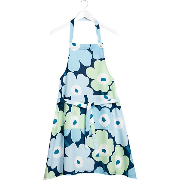 Marimekko Pieni Unikko Turquoise Apron
