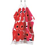 Set of 2 Marimekko Pieni Unikko Red Dishtowels