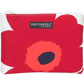 Marimekko Unikko Pieni Keiju Red and White Bag