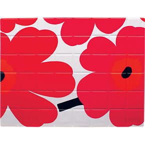 Marimekko Pieni Unikko Red and White Placemat