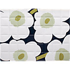 Marimekko Pieni Unikko White and Black Placemat.