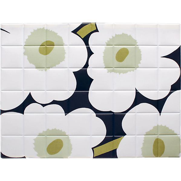 Marimekko Pieni Unikko White and Black Placemat