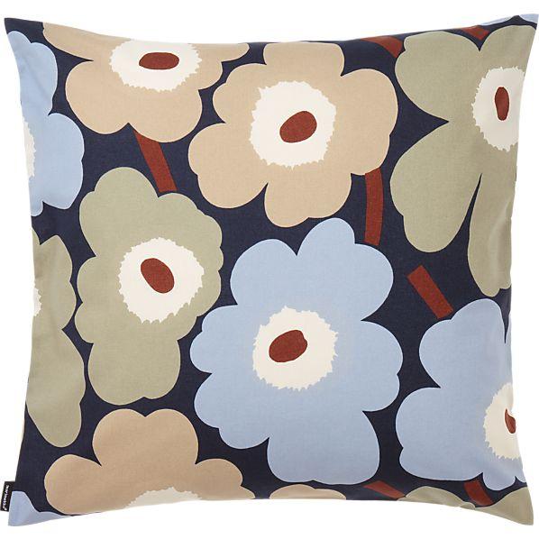 """Marimekko Pieni Unikko Dusk 20"""" Pillow"""