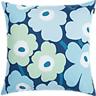 Marimekko Pieni Unikko Turquoise Pillow. 20&amp;quot; sq.