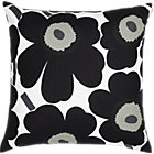 Marimekko Pieni Unikko Black Pillow. 20&amp;quot; sq.