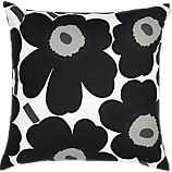 Marimekko Pieni Unikko Black 20&quot; Pillow
