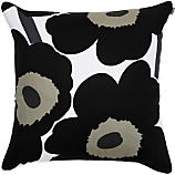 Marimekko Unikko Black and White 24&quot; Pillow