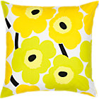 Marimekko Pieni Unikko Lime Pillow. 20&amp;quot; sq.