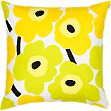 Marimekko Pieni Unikko Lime 20&quot; Pillow