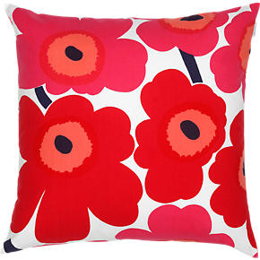 Marimekko Pieni Unikko Red and White 20 Pillow