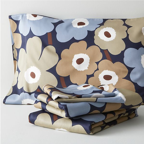 Marimekko Pieni Unikko Dusk Queen Sheet Set