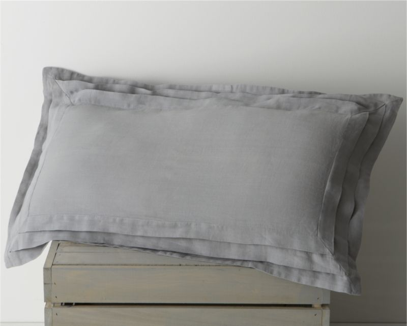 Cool in summer, warm in winter and extremely comfortable next to the skin, 100% linen bedding is perfect in any season. Our Pietra sham gives this super comfortable fiber a cool stone wash, elegantly detailed with soft concentric pleating and a mother of pearl button closure. With each wash, linen will become softer and acquire a subtle sheen. Some color variations may occur. Bed pillows also available.<br /><br /><NEWTAG/><ul><li>100% linen</li><li>Mother of pearl button closures</li><li>Machine wash, tumble dry</li></ul>