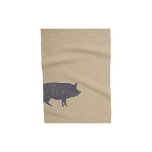 Pig Linen Dish Towel