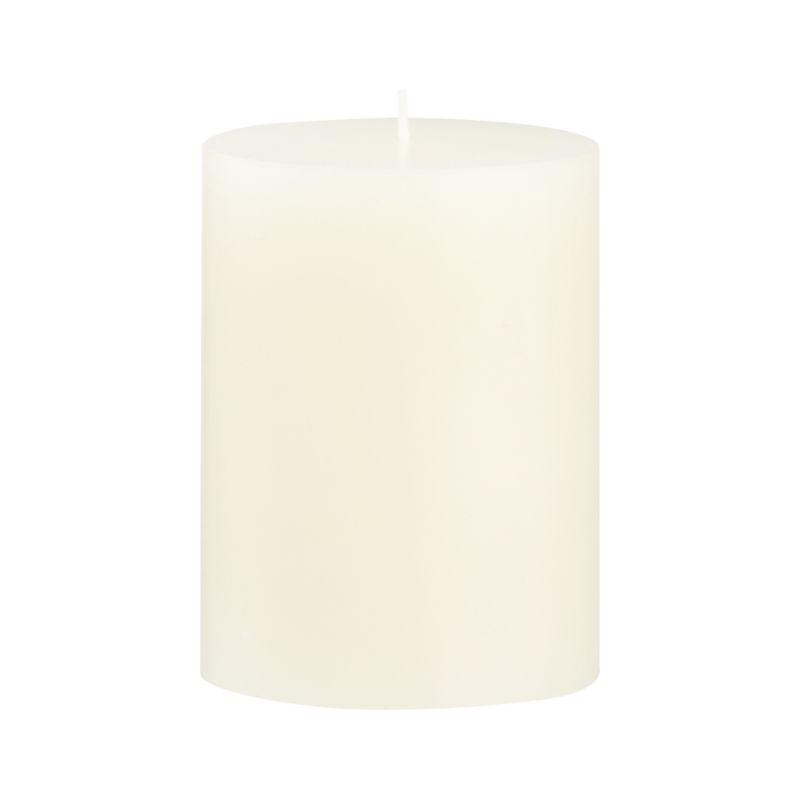 Stock up on the classic ivory pillar candle, in a variety of sizes.<br /><br /><NEWTAG/><ul><li>Paraffin wax</li><li>Cotton wick</li><li>Unscented</li><li>Burn time: 46 hours</li><li>Made in India</li></ul>