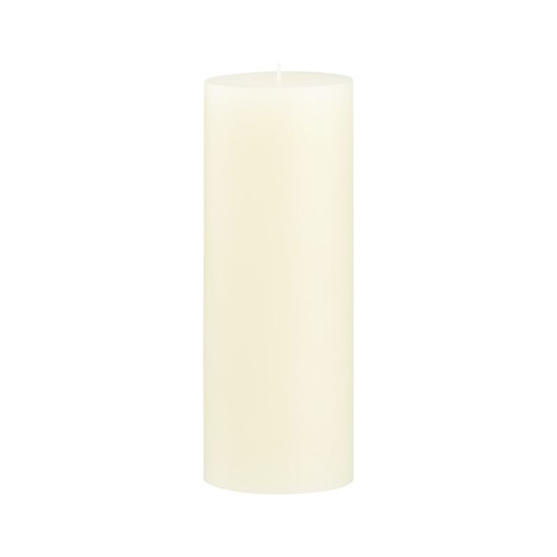 Stock up on the classic ivory pillar candle, in a variety of sizes.<br /><br /><NEWTAG/><ul><li>Paraffin wax</li><li>Cotton wick</li><li>Unscented</li><li>Burn time: 115 hours</li><li>Made in India</li></ul>