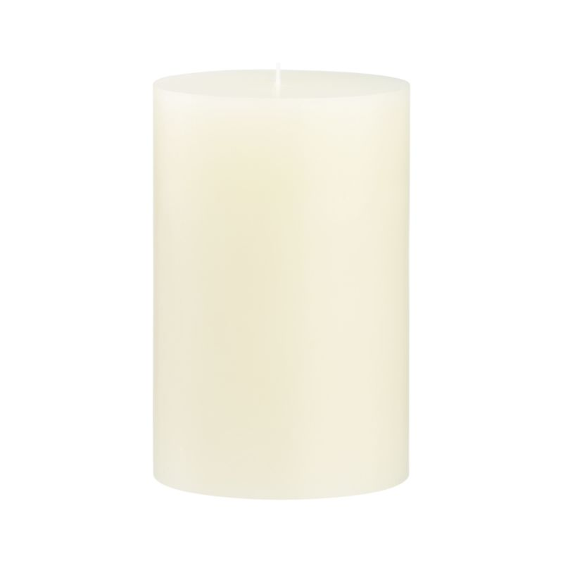 Stock up on the classic ivory pillar candle, in a variety of sizes.<br /><br /><NEWTAG/><ul><li>Paraffin wax</li><li>Cotton wick</li><li>Unscented</li><li>Burn time: 130 hours</li><li>Made in India</li></ul>