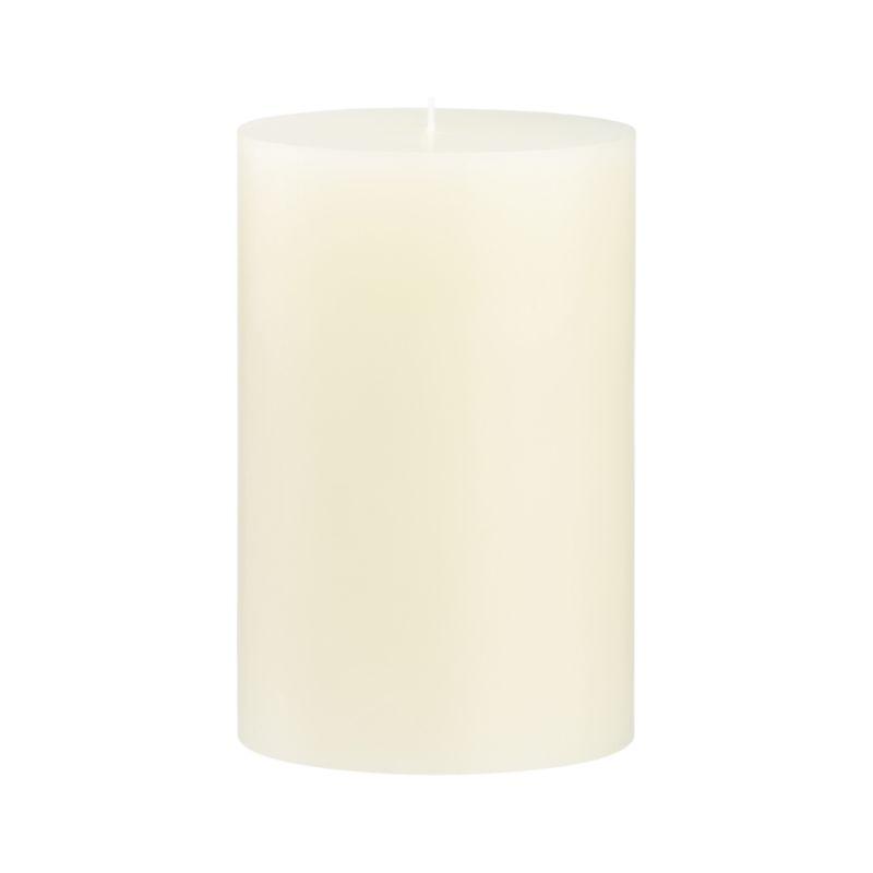 Stock up on the classic ivory pillar candle, in a variety of sizes.<br /><br /><NEWTAG/><ul><li>Paraffin wax</li><li>Cotton wick</li><li>Unscented</li><li>Burn time: 130 hours</li><li>Made in India</li></ul>