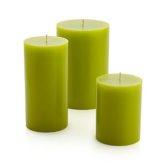 Green Pillar Candles