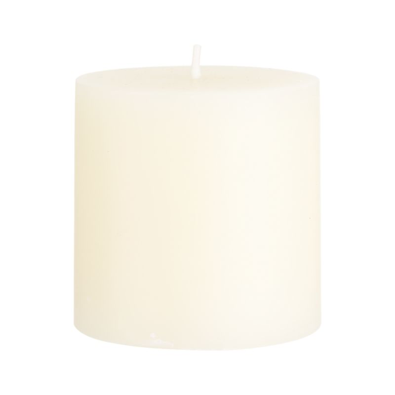 Stock up on the classic ivory pillar candle, in a variety of sizes.<br /><br /><NEWTAG/><ul><li>Paraffin wax</li><li>Cotton wick</li><li>Unscented</li><li>Burn time: 32 hours</li><li>Made in India</li></ul>
