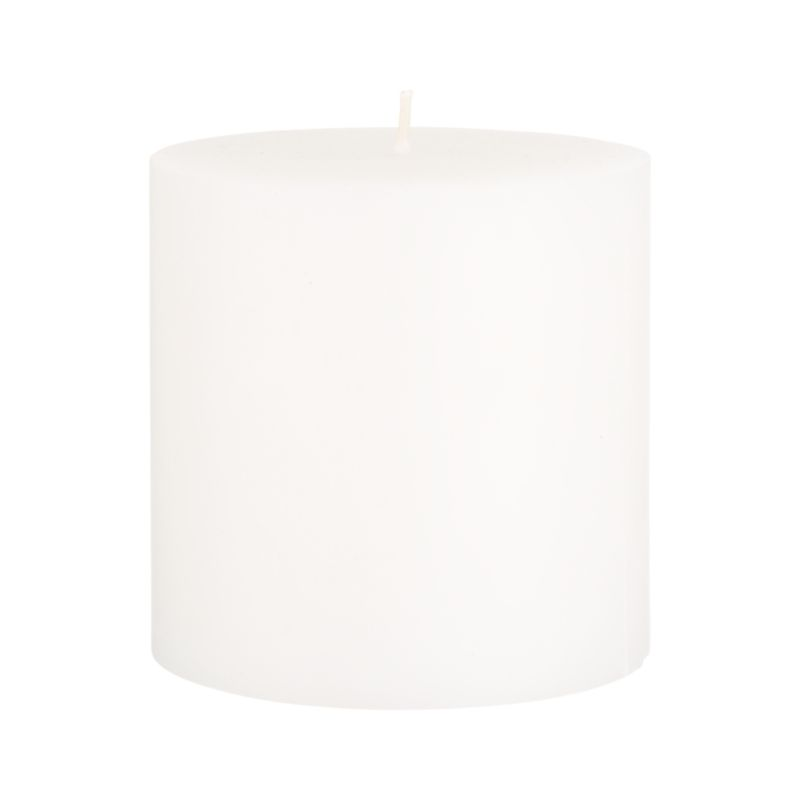 Stock up on the classic white pillar candle, in a variety of sizes.<br /><br /><NEWTAG/><ul><li>Paraffin wax</li><li>Cotton wick</li><li>Unscented</li><li>Burn time: 75 hours</li><li>Made in India</li></ul>