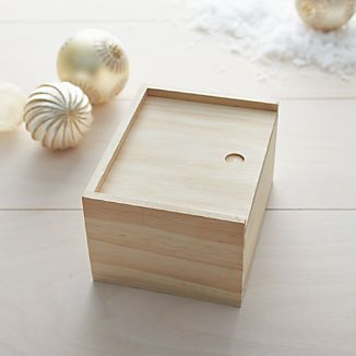 Square Pine Gift Box