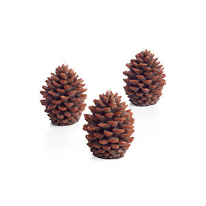 Set of 3 Mini Pinecone Candles