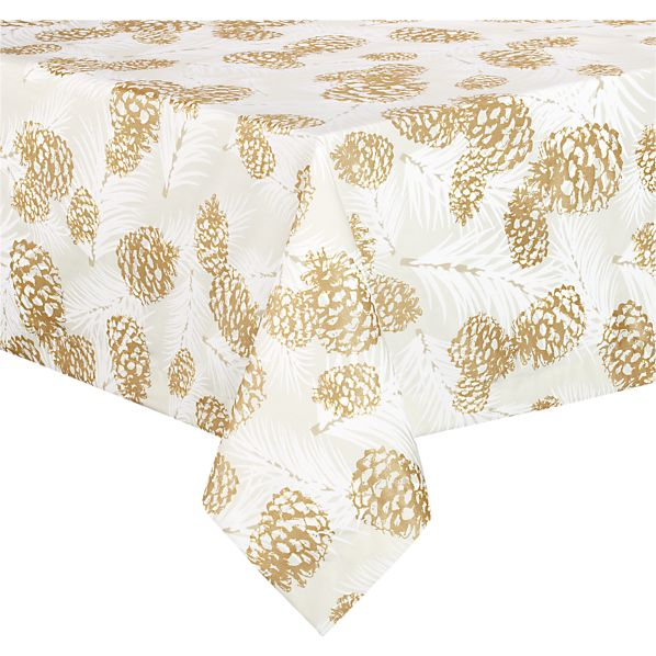 "Pinecone 60""x90"" Tablecloth"