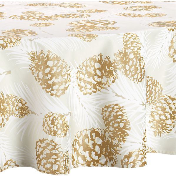 "Pinecone 72"" Round Tablecloth"