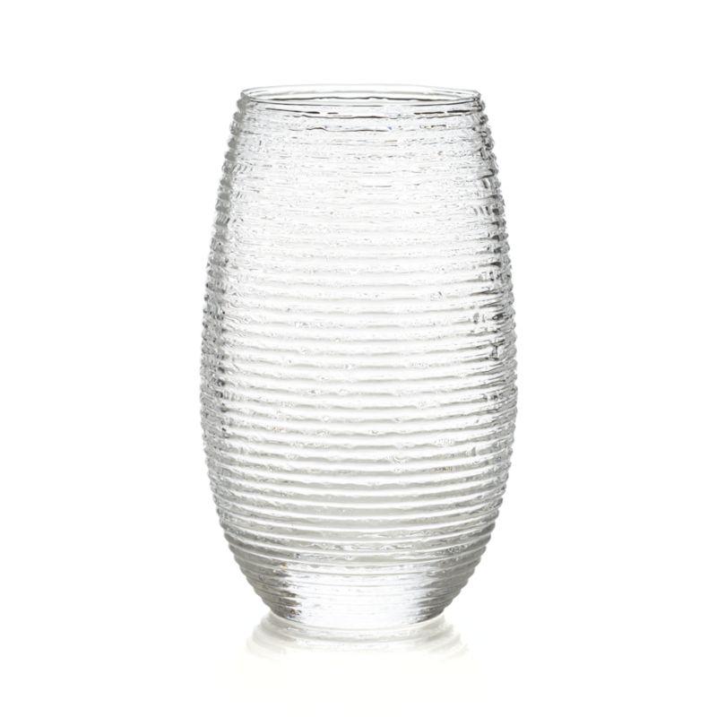 Rippled organic texture lends a frosty look to iced tea, beer or water. Stylish rounded shape cradles in hand, fashioned by master Italian glassmakers.<br /><br /><NEWTAG/><ul><li>Handmade glass</li><li>Not for use with hot liquids</li><li>Hand wash</li><li>Made in Italy</li></ul>
