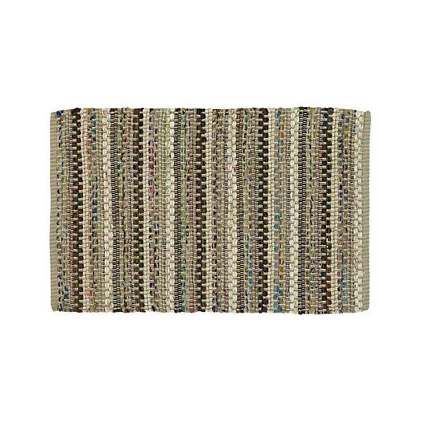 Pinstripe Grey 2'x3' Rag Rug