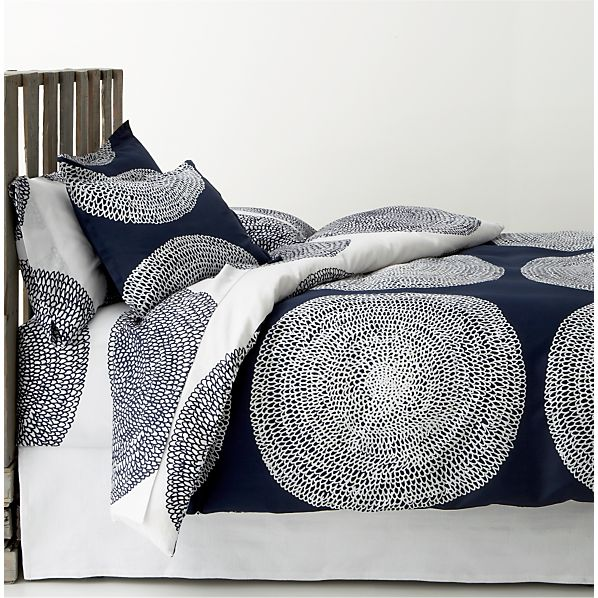 Pippurikera Navy Twin Duvet Cover