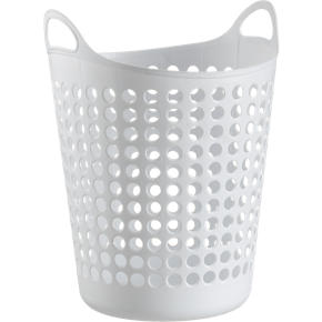 Large White Plastic Basket