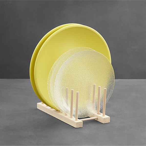 Wooden 10 Quot Plate Rack Crate And Barrel