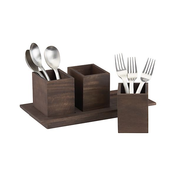 Plateau Flatware Caddy | Crate and Barrel