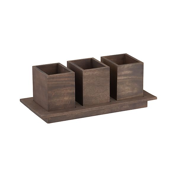 Plateau Flatware Caddy in Specialty Serveware | Crate and Barrel