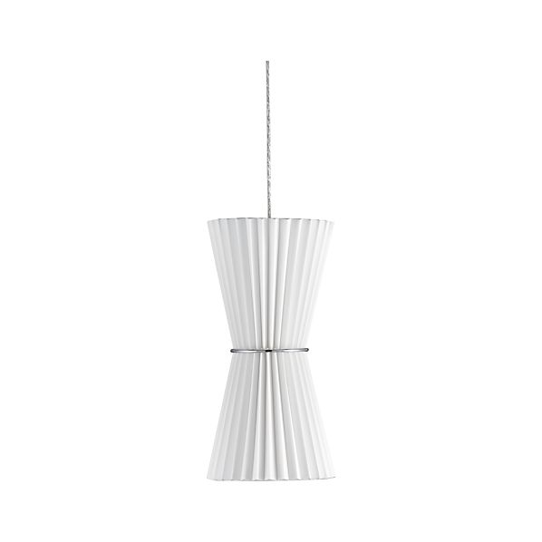 Pleat White Hourglass Pendant Lamp