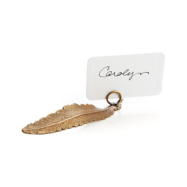 Plume Placecard Holder