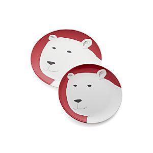 Polar Bear Melamine Plates