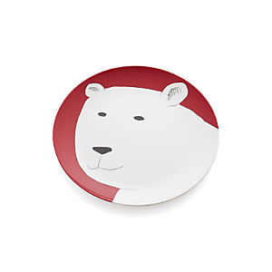 "Polar Bear 10.5"" Melamine Plate"