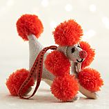 Orange Pompom Poodle Ornament