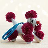 Hot Pink Pompom Poodle Ornament