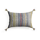 Pondicherry Pillow with Feather-Down Insert.