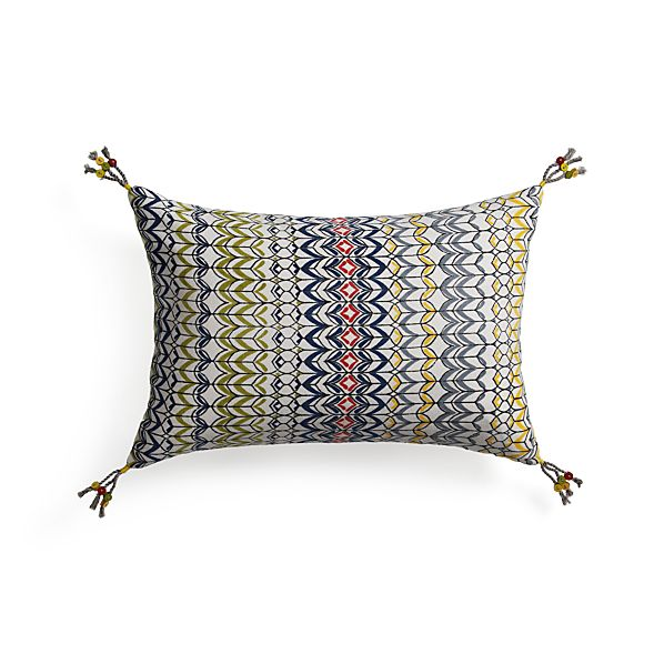 "Pondicherry 18""x12"" Pillow with Down-Alternative Insert"